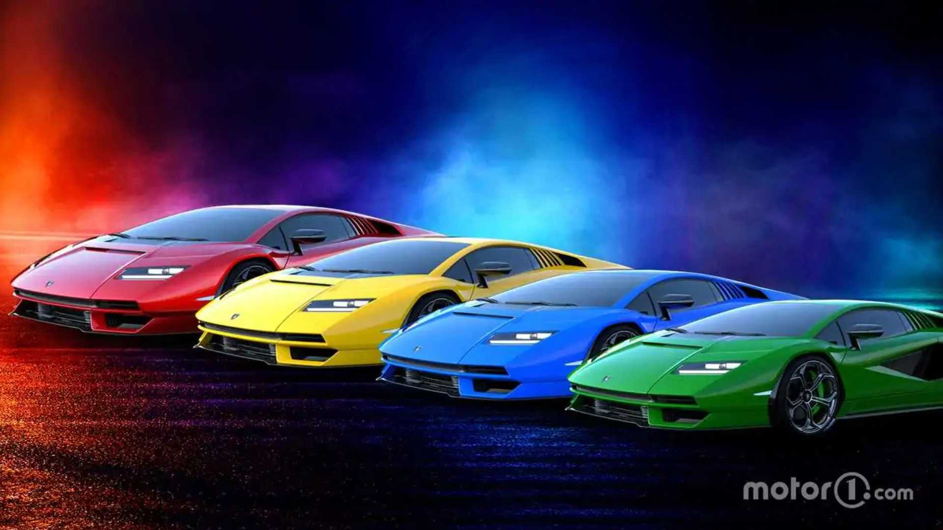 What Color Do You Want Your New Lamborghini Countach Painted?
