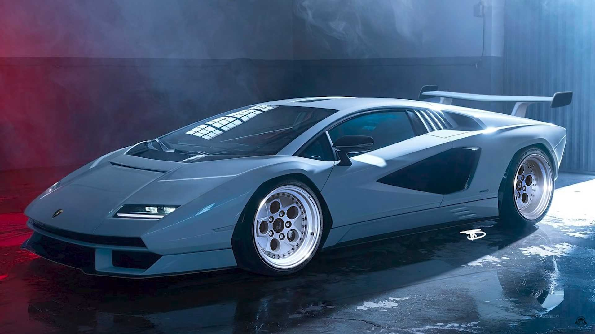 Lamborghini Countach Rendering Gives Us The Wing We Always Wanted