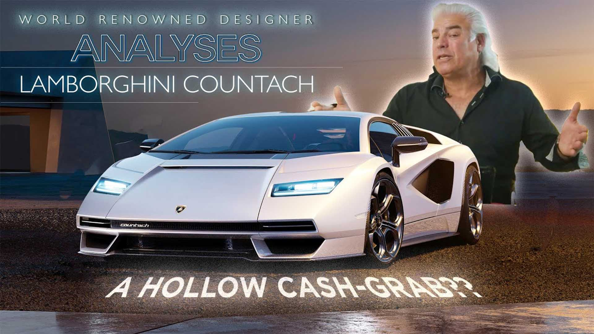 Iconic Auto Designer Weighs In On The New Lamborghini Countach